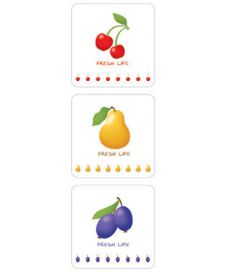 Tiles-Fruits (6 pcs)
